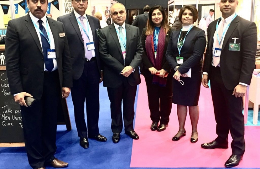 CFOP touring the Conservative Party Conference with HE Syed Ibne Abbas High Commissioner of Pakistan